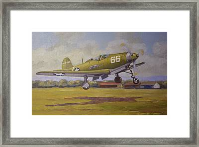 Bell Airacobra Framed Print by Murray McLeod
