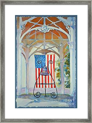 Bell And Flag Framed Print