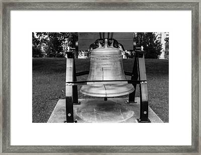 Framed Print featuring the photograph Bell At Tn State Capitol by Robert Hebert