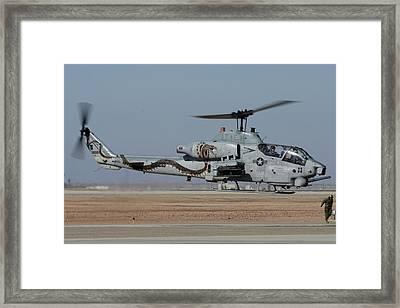 Bell-boeing Ah-1w Cobra Buno 165369 Naf El Centro February 19 2015 Framed Print