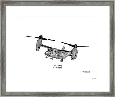 Bell-boeing Mv-22b Osprey Framed Print