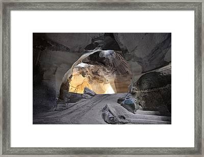Bell Caves Framed Print