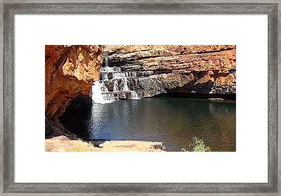 Framed Print featuring the photograph Bell Falls by Tony Mathews