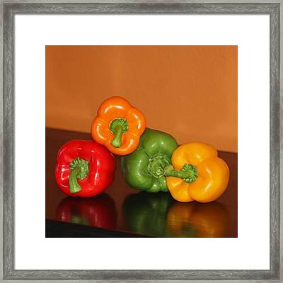 Bell Pepper Still Life Framed Print by Art Block Collections