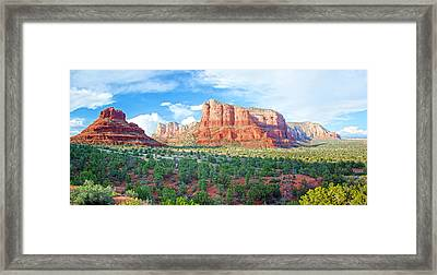 Bell Rock And Courthouse Butte Framed Print