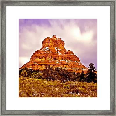 Bell Rock Sedona Az Framed Print by Bob and Nadine Johnston