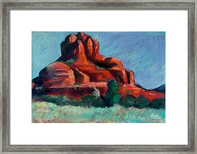 Framed Print featuring the painting Bell Rock Sedona by Linda Novick