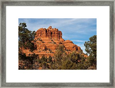 Bell Rock Through The Trees Framed Print by Randy Bayne