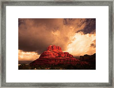 Framed Print featuring the photograph Bell Rock by Tom Kelly