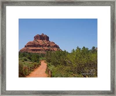 Bell Rock Vortex Framed Print by Lee Roth