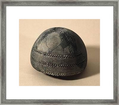 Bell Shaped Vase From Cueva De Toralla Framed Print by Everett