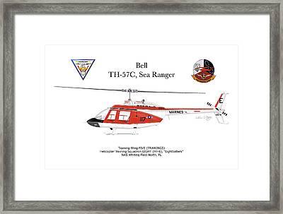 Bell Th-57c Sea Ranger Framed Print by Arthur Eggers