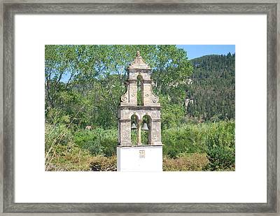 Framed Print featuring the photograph Bell Tower 1584 1 by George Katechis