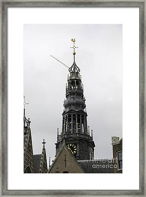 Bell Tower At Oude Kerk Amsterdam Framed Print by Teresa Mucha