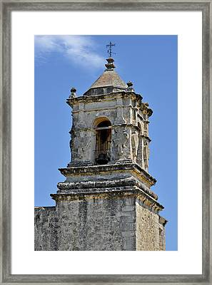 Bell Tower Mission San Jose Tx Framed Print by Christine Till