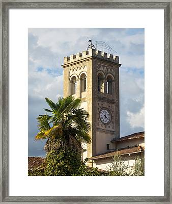 Bell Tower Of Lamporecchio Framed Print