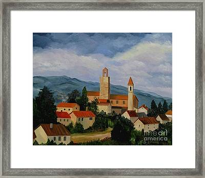 Bell Tower Of Vinci Framed Print