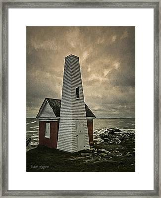 Bell Tower Pemaquid Lighthouse Maine Framed Print