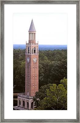 Bell Tower - Roof Shot - Unc Chapel Hill Framed Print