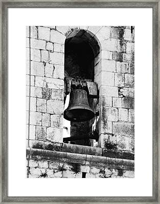 Bell Tower Valbonne Abbey Framed Print by Christine Till