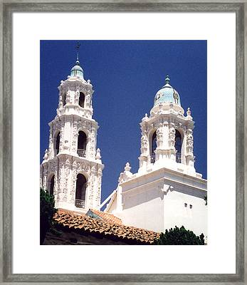 Bell Towers Framed Print by Mary Bedy