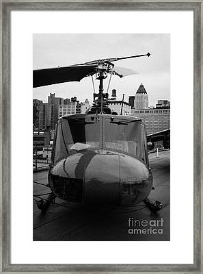bell uh1 huey helicopter at the Intrepid Sea Air Space Museum Framed Print by Joe Fox