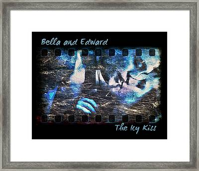 Bella And Edward - The Icy Kiss Framed Print by Absinthe Art By Michelle LeAnn Scott