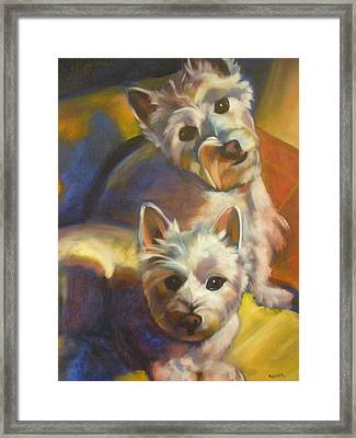 Bella And Zoey Framed Print by Kaytee Esser