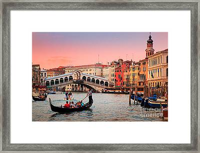 La Bella Canal Grande Framed Print by Inge Johnsson