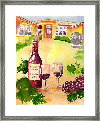 Bella Colina Winery Framed Print by Sharon Mick