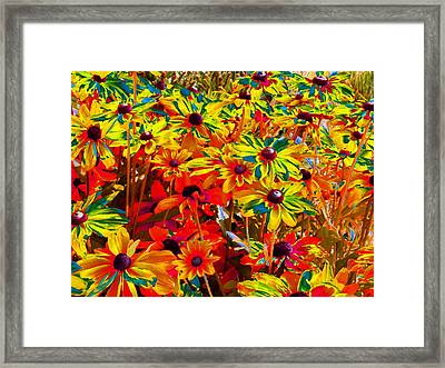 Bella Flora Painting Framed Print by Will Borden