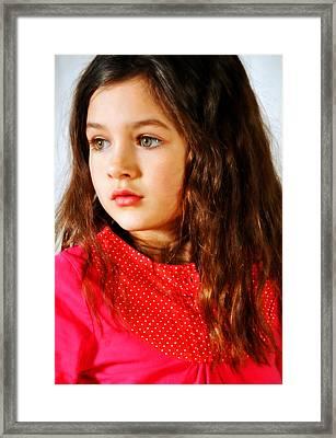 Bella Framed Print by Jon Van Gilder
