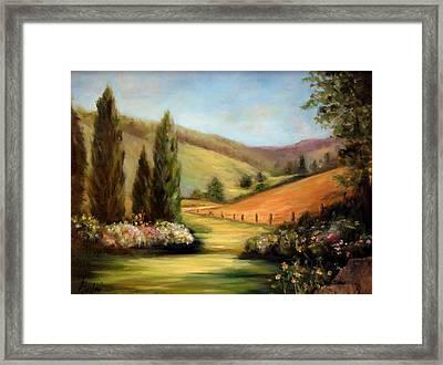 Bella Valle Framed Print