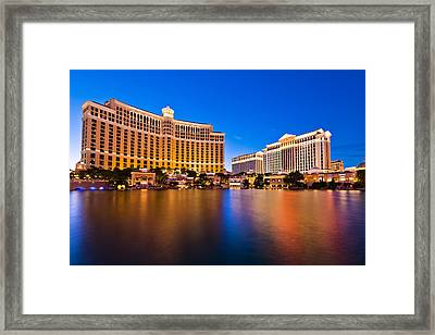 Bellagio And Caesars Framed Print