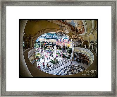 Bellagio Conservatory And Botanical Gardens Framed Print by Edward Fielding