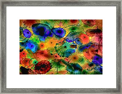 Bellagio Flowers Framed Print