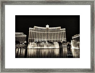 Bellagio Fountain Dance 1 Framed Print by John Rizzuto