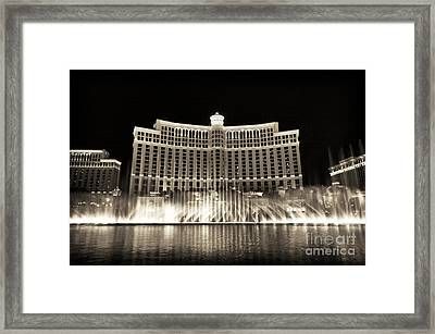 Bellagio Fountain Dance 2 Framed Print by John Rizzuto