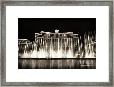 Bellagio Fountain Dance 3 Framed Print by John Rizzuto