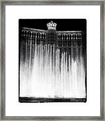 Bellagio Fountains I Framed Print by John Rizzuto