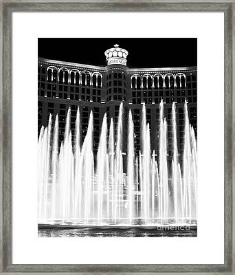 Bellagio Fountains IIi Framed Print by John Rizzuto