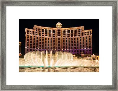 Bellagio Hotel And Casino Fountain  Framed Print