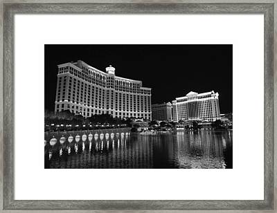 Bellagio Nights 2 Bw Framed Print by Jenny Hudson