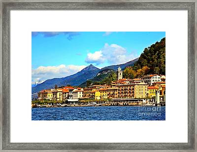 Bellagio On Lake Como Framed Print