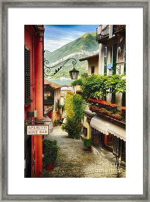 Bellagio Street Charm Framed Print