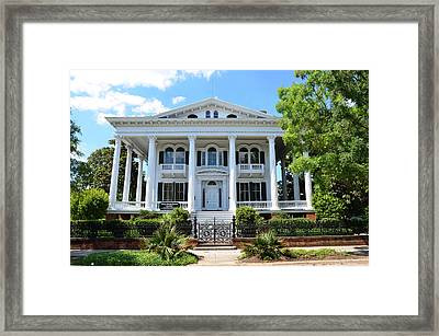 Framed Print featuring the photograph Bellamy Mansion by Bob Sample