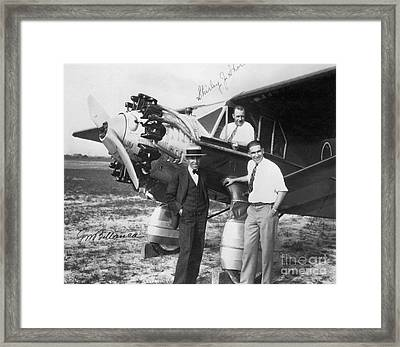 Bellanca Pilots And Aeroplane, 1920s Framed Print by Hagley Archive