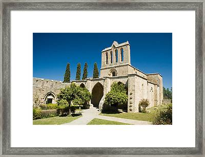 Bellapais Abbey Kyrenia Framed Print by Jeremy Voisey