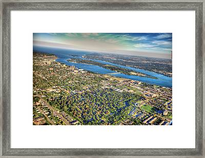 Belle Isle From Twenty Five Hundred Feet Framed Print by A And N Art