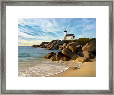 Belle Isle Light Framed Print by James Charles